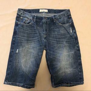 Ecko Unlimited Shorts - Ecko Unltd Dark Wash Jean Shorts Size 38 Waist